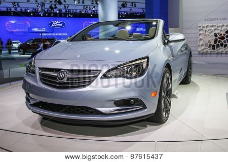 NEW YORK - APRIL 1: Buick exhibit Buick Cascada at the 2015 New York International Auto Show during Press day,  public show is running from April 3-12, 2015 in New York, NY.