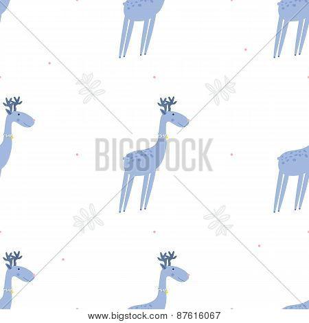 Seamless pattern deers