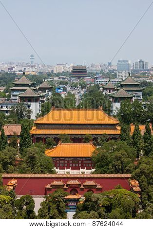 Looking North From Prospect Hill In Jingshan Park, Beijing