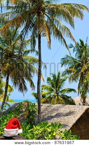 Seascape With Santa Hat, Maldives