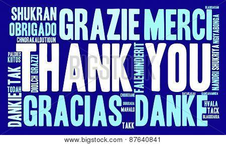 International Thank You Word Cloud