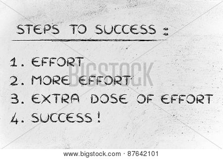 Effort, More Effort And Extra Effort Are The Key To Success