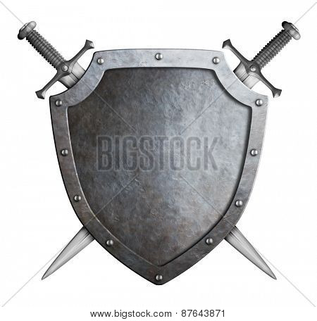shield and swords isolated coat of arms