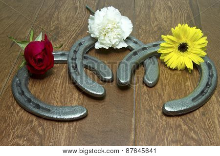 Triple Crown Flowers On Horseshoes