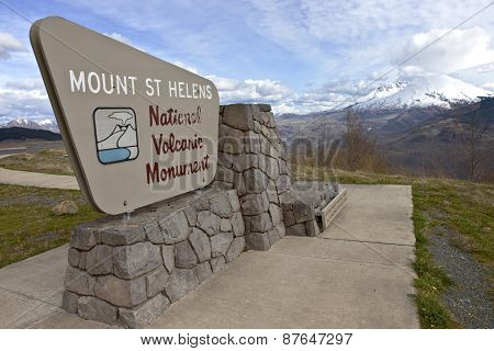 Sign Post At Mt. St. Helen's State Park.