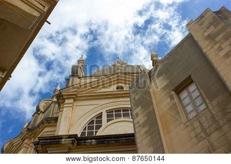 Main Church Of Sannat In Gozo, Malta