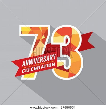 73rd Years Anniversary Celebration Design Vector. EPS 10 poster