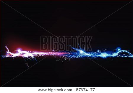 Abstract background made of Electric lighting effect