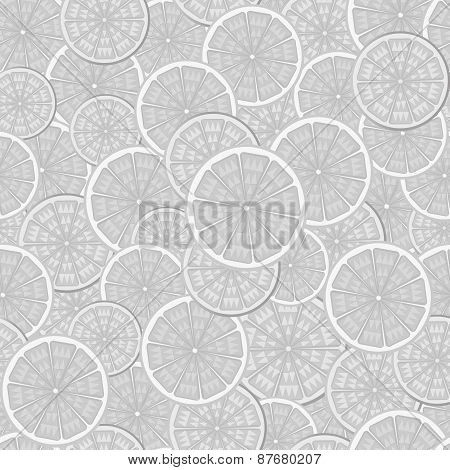 Abstract Seamless Pattern In Shades Of Gray.image Of Orange In The Context Of.
