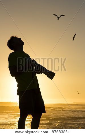 Silhouetted Bird Photographer