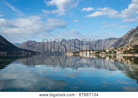 The View Over The Bay Of Kotor In Montenegro, Balkans