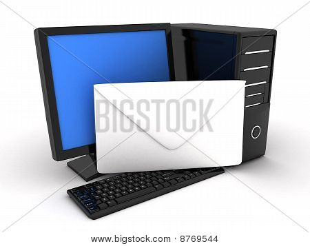 Computer And Letter
