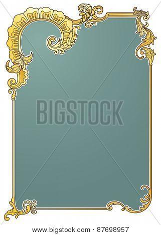 Victorian frame vector illustration eps10