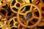 Grunge gear, cog wheels background. Concept of industrial, science, clockwork, technology.  poster