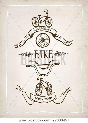 Vintage Bicycle Design Elements