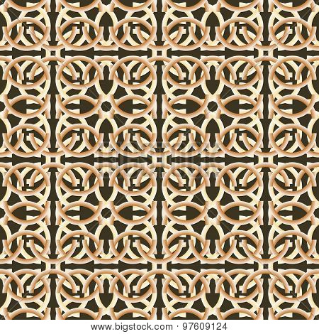 Unusual Beautiful Abstract Seamless Pattern Of Cambered Elements