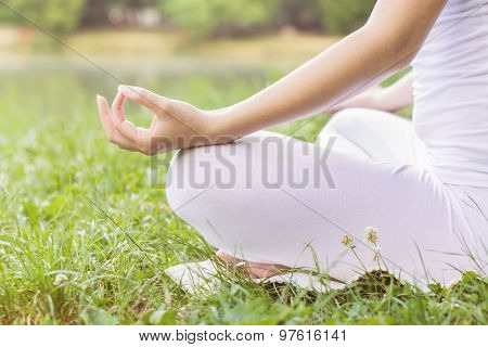 Yoga Woman Meditating Relaxing Healthy Lifestyle