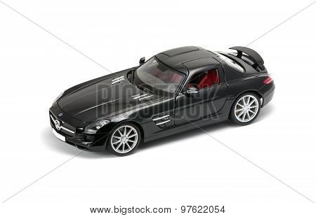 Luxurious Black Car Front View