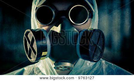Man Portrait In Respirator