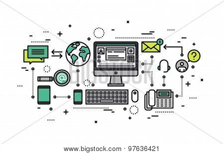 Information Retrieval Line Style Illustration