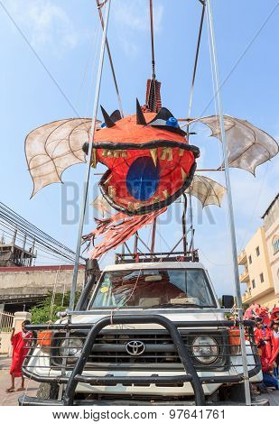 Unidentified People Perform In Sihanoukville Annual Carnival