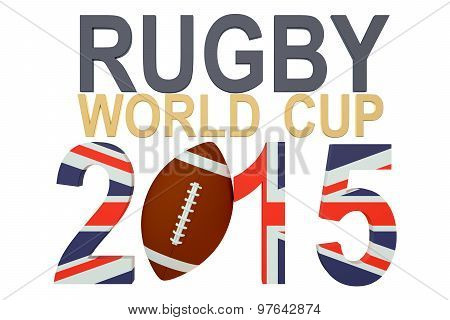 Rugby World Cup 2015 Great Britain concept isolated on white background poster