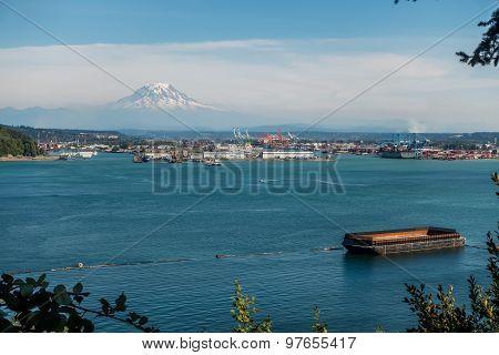 Port And Mount Rainier 2