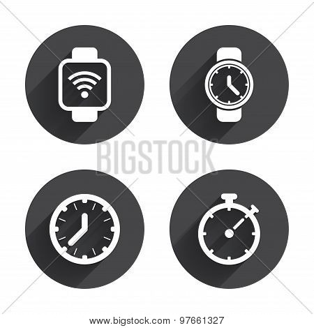 Smart watch. Mechanical clock time and timer.