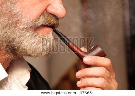 Man Handle Tobacco Pipe