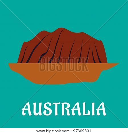 Australian travel landmark flat design