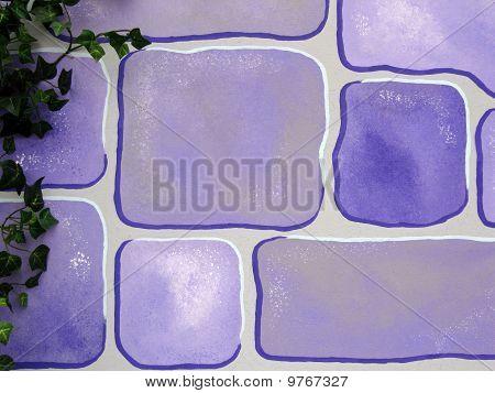 Pastel Blue Cartoon Brick Background
