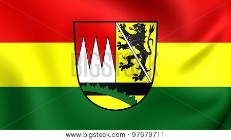 Flag Of Hassberge District, Germany.