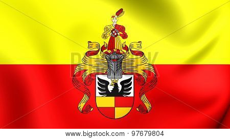 Flag Of Hildesheim City, Germany.