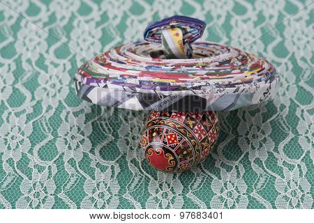 Recycled Paper And Easter Egg