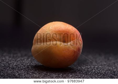 Apricot With Water Drops