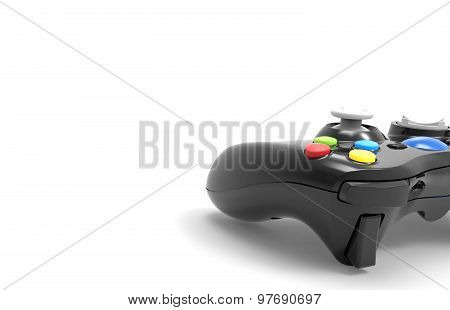 Video game controller isolated on white background poster