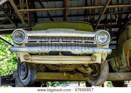 Old Dodge On Timbers
