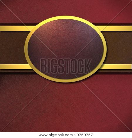 Rich Red Background With Copy Space