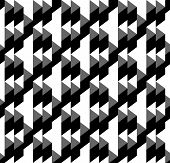 Black and white geometric seamless pattern with triangle and trapezoid. Abstract background. Vector illustration. poster