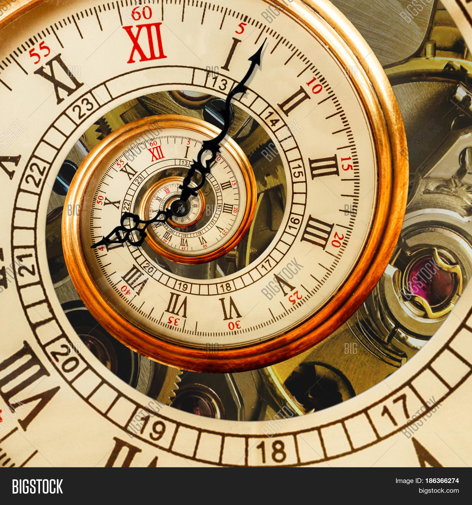 Unusual Clocks Antique Old Clock Abstract Fractal Image Amp Photo Bigstock