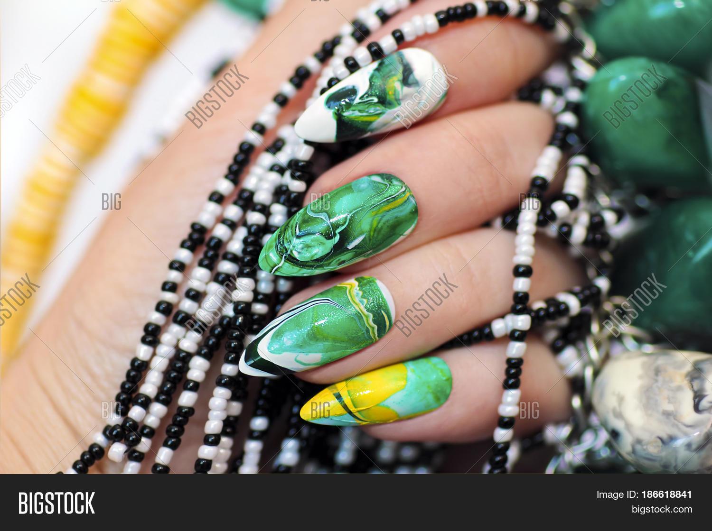 Stone Nail Design Image Photo Free Trial Bigstock