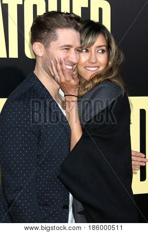 LOS ANGELES - MAY 10:  Matthew Morrison, Renee Puente at the
