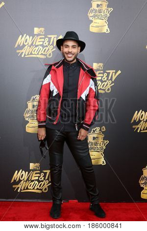 LOS ANGELES - MAY 7:  Hugo Gloss at the MTV Movie and Television Awards on the Shrine Auditorium on May 7, 2017 in Los Angeles, CA
