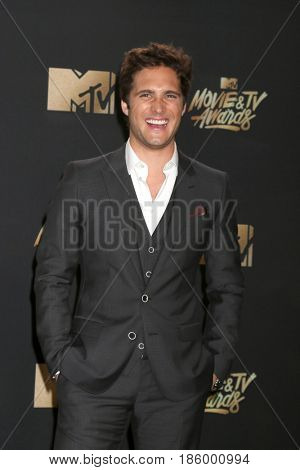 LOS ANGELES - MAY 7:  Diego Boneta at the MTV Movie and Television Awards on the Shrine Auditorium on May 7, 2017 in Los Angeles, CA
