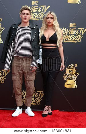 LOS ANGELES - MAY 7:  Sammy Wilk, Anastasia Karanikolaou at the MTV Movie and Television Awards on the Shrine Auditorium on May 7, 2017 in Los Angeles, CA
