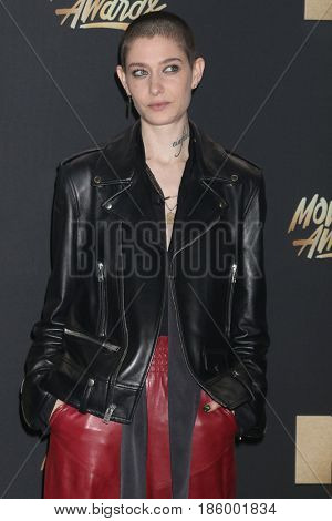 LOS ANGELES - MAY 7:  Asia Kate Dillon at the MTV Movie and Television Awards on the Shrine Auditorium on May 7, 2017 in Los Angeles, CA