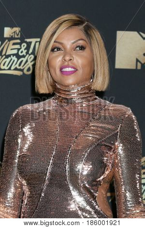 LOS ANGELES - MAY 7:  Taraji P Henson at the MTV Movie and Television Awards on the Shrine Auditorium on May 7, 2017 in Los Angeles, CA