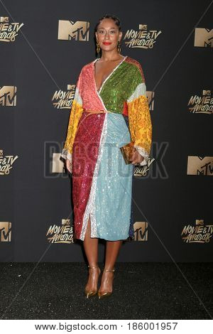 LOS ANGELES - MAY 7:  Tracee Ellis Ross at the MTV Movie and Television Awards on the Shrine Auditorium on May 7, 2017 in Los Angeles, CA