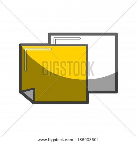 notes papers tools to remember things, vector illustration
