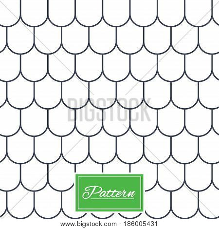 Roof tile lines texture. Stripped geometric seamless pattern. Modern repeating stylish texture. Abstract minimal pattern background. Vector